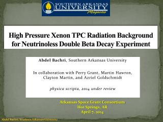 High Pressure Xenon TPC Radiation Background for  Neutrinoless  Double Beta Decay Experiment