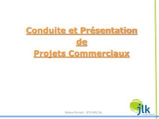 Conduite et Présentation de Projets Commerciaux