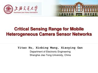 Critical Sensing Range for Mobile Heterogeneous Camera Sensor Networks