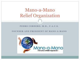 Mano-a-Mano  Relief Organization
