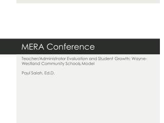 MERA Conference