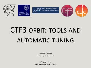 CTF3 orbit:  tools and automatic tuning