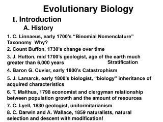 Evolutionary Biology