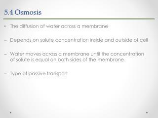 5.4  Osmosis