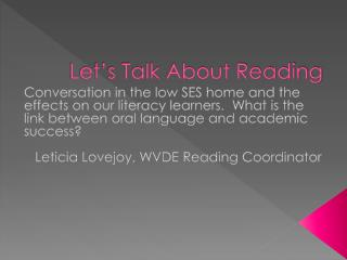 Let's Talk About Reading