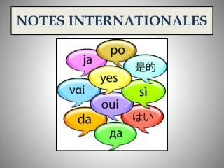 NOTES INTERNATIONALES