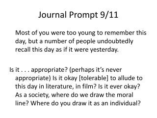 Journal Prompt 9/11