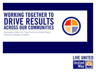 Summary of the U.S. Task Force on United Way's Economic Model & Growth