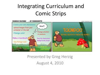 Integrating Curriculum and Comic Strips