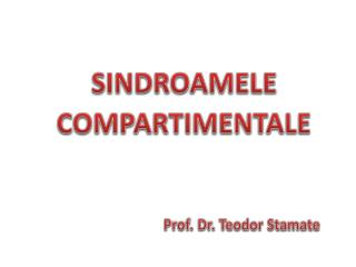 SINDRO A MELE COMPARTIMENTALE
