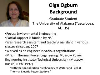Olga Ogburn Background