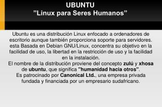 UBUNTU   Linux para Seres Humanos