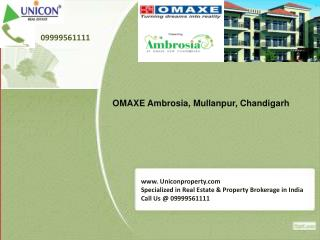 Omaxe Ambrosia Chandigarh @ 09999561111 - Omaxe Group