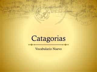 Catagorias