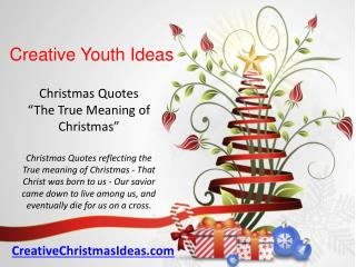 Christmas Quotes The True Meaning of Christmas
