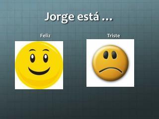 Jorge está …