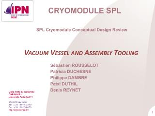 Cryomodule  SPL