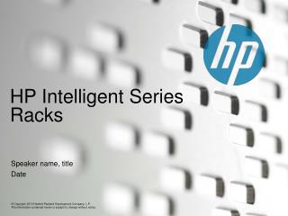 HP Intelligent Series Racks