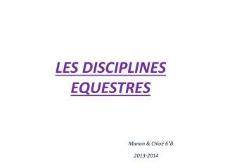 LES DISCIPLINES  EQUESTRES