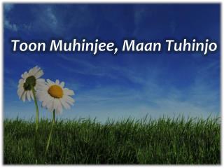 Toon Muhinjee ,  Maan Tuhinjo