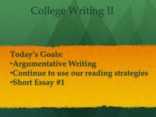 College Writing II