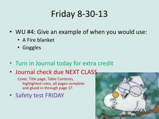 Friday 8-30-13