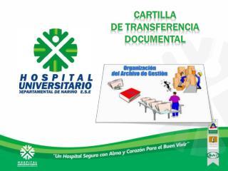 CARTILLA  DE TRANSFERENCIA documental