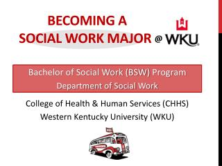 Becoming a                                          social work major  @