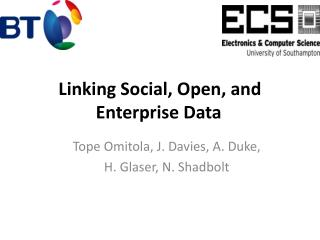 Linking  Social, Open, and Enterprise  Data