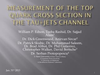 Measurement of the Top Quark Cross section in the  tau+jets  Channel
