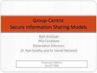 Group-Centric Secure Information Sharing Models