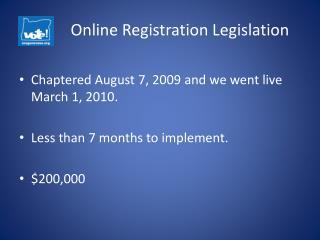 Online Registration Legislation