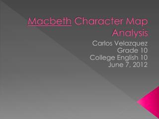 Macbeth  Character Map Analysis