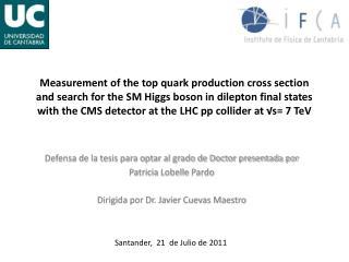 Defensa de la tesis para optar al grado de Doctor presentada por Patricia  Lobelle Pardo