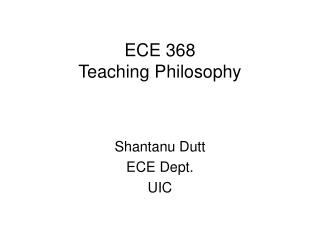 ECE 368 Teaching Philosophy