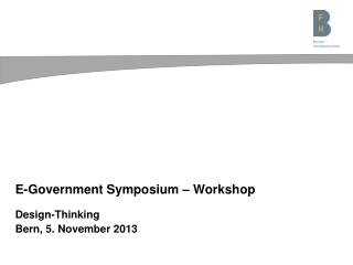 E- Government  Symposium – Workshop