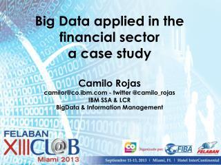 Uso de Big Data en servicios financieros