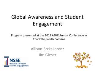 Global Awareness and Student Engagement