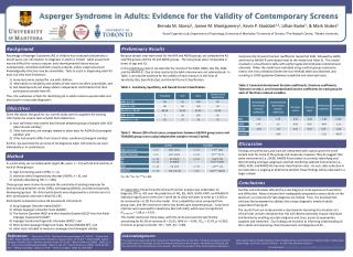 Asperger Syndrome in Adults: Evidence for the Validity of Contemporary Screens