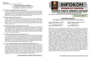 Edisi :  XLIII/ 3 Feb 2013