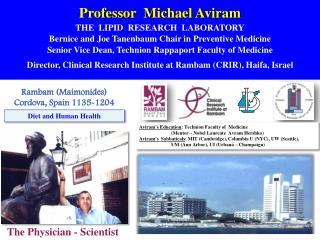 Professor  Michael Aviram THE  LIPID  RESEARCH  LABORATORY