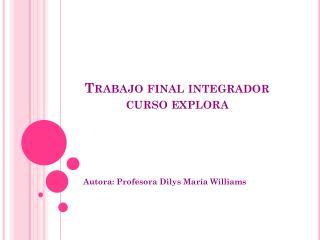 Trabajo final integrador  curso explora