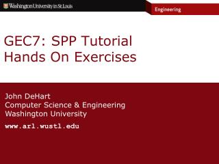 GEC7: SPP Tutorial Hands On Exercises