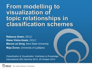 From  modelling  to visualization of  topic relationships in classification schemes