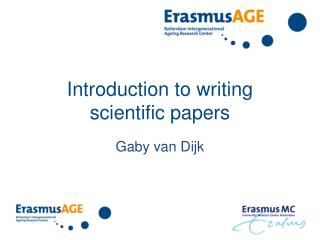 Introduction to writing  scientific papers