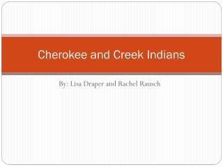 Cherokee and Creek Indians