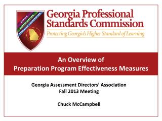 An Overview of Preparation  Program Effectiveness  Measures