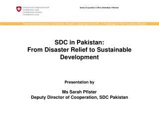 Swiss Cooperation Office Islamabad, Pakistan