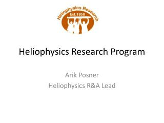 Heliophysics Research Program