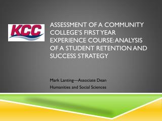 Mark Lanting—Associate Dean Humanities and Social Sciences